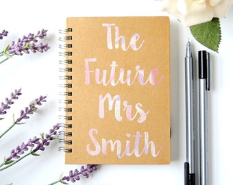 Personalised A6 Wedding Notebook