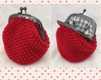 Crochet Handmade Coin Purse *Red*