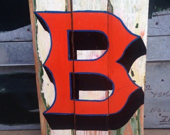 "Reclaimed Wood Sign - Letter ""B"""