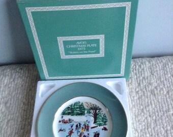 Avon Christmas Plate 1975