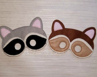 Woodland Raccoon Animal Mask for Fancy Dress Up Pretend Play Costume Birthday Halloween Party Celebration