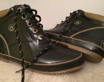 Vintage Sporto Rain Boots, ladies size 8.