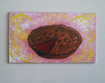 pie fridge magnet