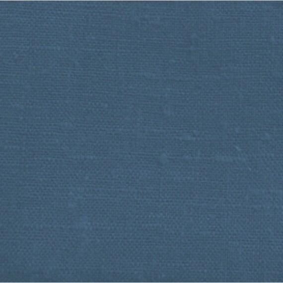 Plain Navy Linen Fabric Navy Blue Decor Navy Home By