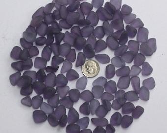 20 pcs beach sea glass lot bulk wholesale  purple   jewelry use