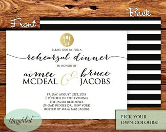 Printable Wedding Rehearsal Invitation, RD1