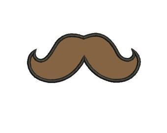 Mustache Applique 4x4 5x7 - Embroidery Machine Design