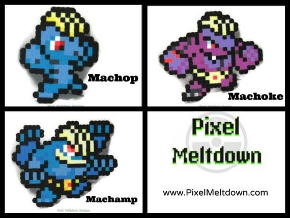 Machop Machoke Machamp Pokemon Pixel Art