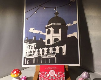 A4 Print of my original papercut of the Iconic  Dome Cinema in Worthing