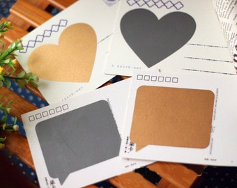 8 PCS Scratch Off Square and Heart scratch off labels stickers Make Your Own Scratch Off Cards Secret Message Scratch Off Card T120