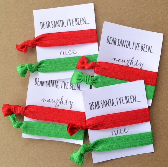 Naughty Nice Christmas Hair Ties