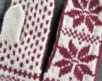 Warm woolen mittens - Winter mittens - Handmade warm mittens