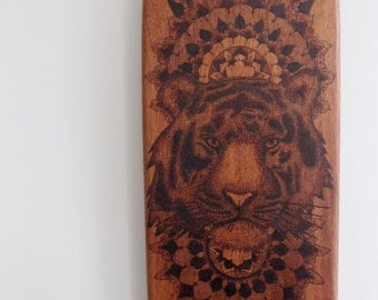 Unique. original. handcrafted. hand burned. pyrography. mahogany. skateboard.pyrography art.original pyrography.hand made skateboard.bespoke