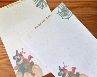 Cute Vintage Witch Writing Paper-Stationery