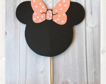 Minnie Mouse Cake Topper, Minnie Mouse Ears, Cake Topper