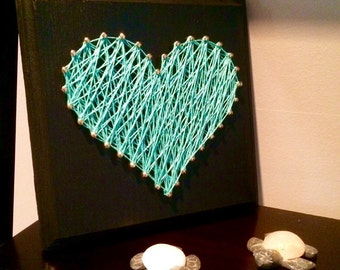 MADE TO ORDER-heart string art- home decor