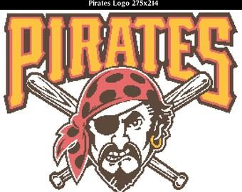 Pittsburg Pirates -- Counted Cross Stitch Chart Patterns, 3 sizes!