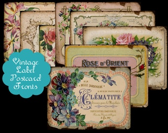 8 Vintage Perfume Label Tags