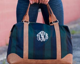 Plaid Weekender Duffel Bag. Perfect carry-on size.