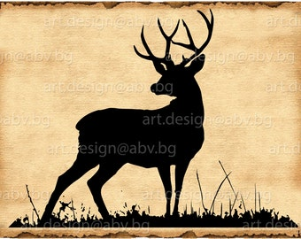 Vector DEER, SVG, DXF, ai, eps, pdf, png, jpg Download, Digital image, graphical, silhouette, discount coupons