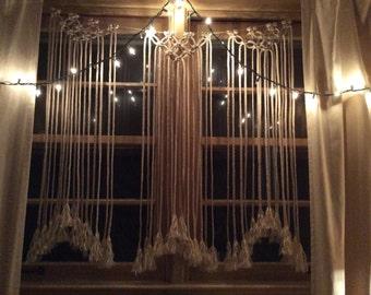 Macrame Curtain / Macrame / Window Curtain  / Home Decor