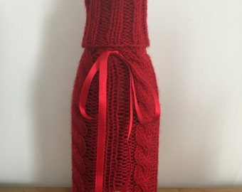 Hand Knitted Bottle Cover