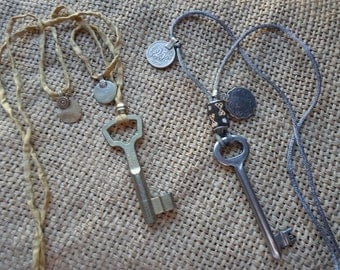 Antique key pendant