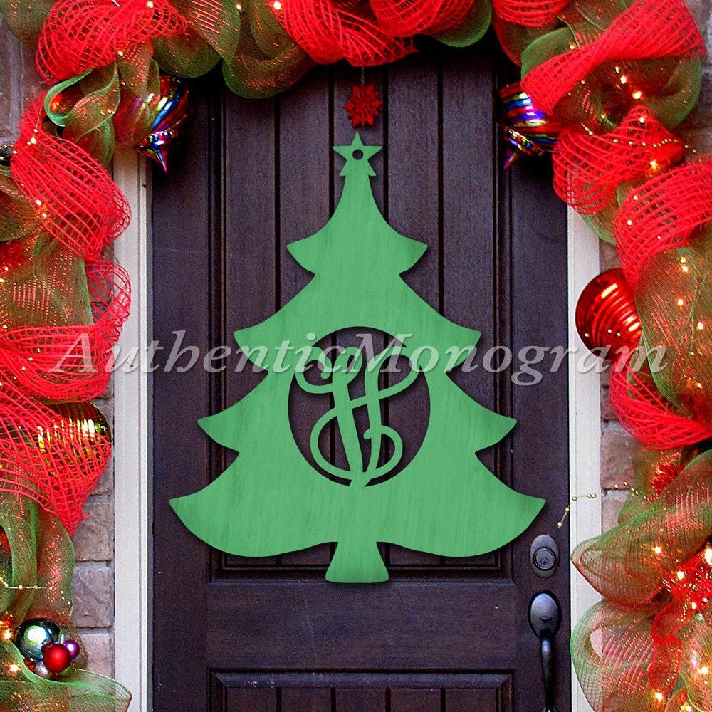 Wooden christmas tree door hanger cristmas decorations