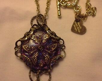 Purple Butterfly Necklace N 163