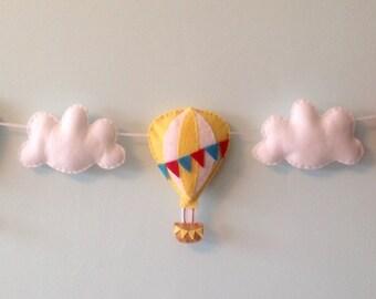 Balloon and cloud garland