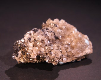Pyrite with Crystallized Sphalerite and Siderite - Rough Natural Mineral for Display - Specimen - Decoration