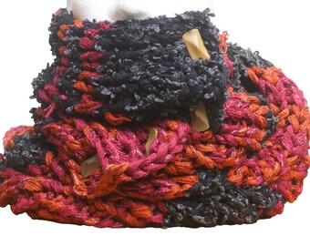 accessorie scarf men women snood  infinity scarf  neckwarmer knit handmade