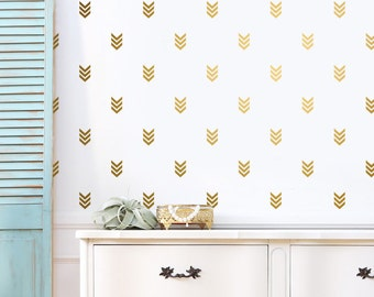 Arrow Wall Decals - Gold Tribal Geometric Decals, Nursery Decals, Unique Vinyl Decals, Modern Wall Decals, Home Decor for Gifts and More!