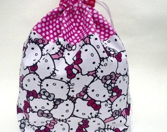 Hello Kitty Knitting Crochet Project Bag