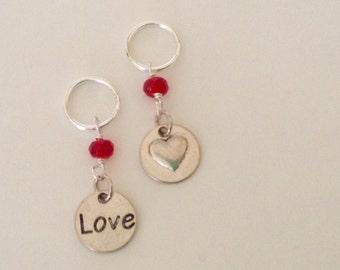 Love Stitch Marker Set of Six Hearts