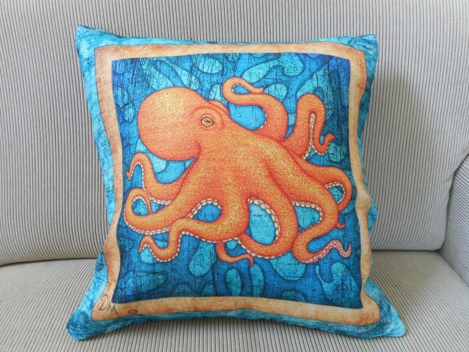 Octopus Accent Pillow Cover Decorative Pillow Octopus