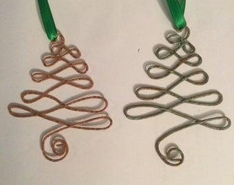 Copper Xmas Tree Ornaments