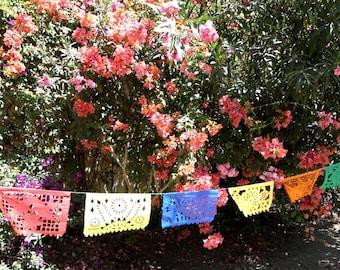 wholesale multicolor banners, papel picado flags, mexican flags, rectangle papel picado flags, mexican party decor, wholesale papel picado
