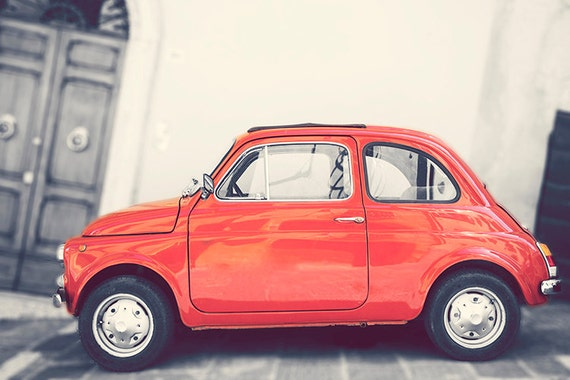articles similaires la photographie rouge fiat 500 fiat 500 photo photographie vintage. Black Bedroom Furniture Sets. Home Design Ideas