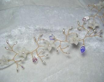 Bridal hair vine jasmine