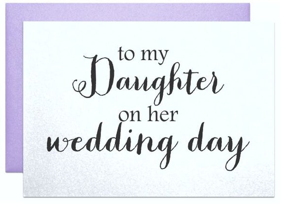 To My Daughter On Her Wedding Day Card For