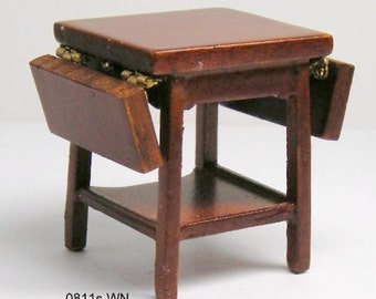 Miniature dollhouse 1:24 half scale Chippendale drop leaf table  s0811w