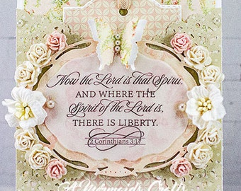 Shabby Chic Christian Greeting Card