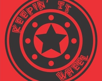 Roller Derby T-shirt - Keepin' It Wheel