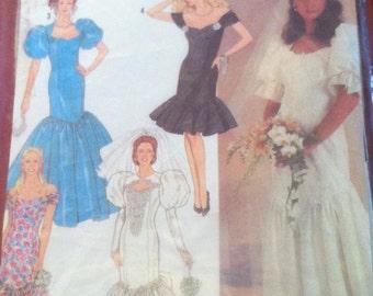 1990s Simplicity 7058 pattern Brides and Bridesmaids Dress 1990