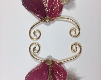 Red Fairy Earwings Ear Wings Earcuffs Fairy Wings Butterfly Wings Costume Wings