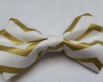 Ainsley- gold chevron bow