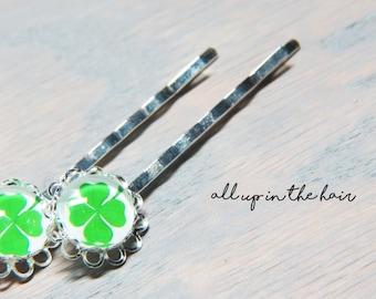 Four Leaf Clover Bobby Pins - Clover Hair Pins