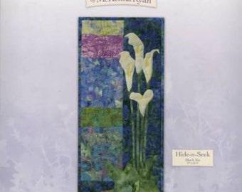 Bella Garden6 - HIDE-N-SEEK Art Quilt Pattern by McKenna Ryan calla peace lily
