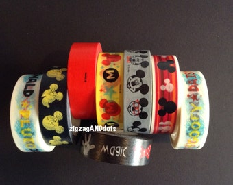 WS41: Disney Washi Tape Samples, 24 Inches, FREE Samples Available, Mickey Mouse Washi, Planner Decorations, Scrapbooking